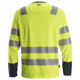 Snickers 2433 AllroundWork T-shirt Odblaskowy – długi rękaw, EN 20471/2