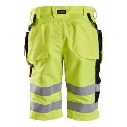 Snickers 6131 LiteWork Spodnie Krótkie Odblaskowe + z workami kieszeniowymi, EN 20471/1