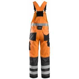 Snickers 0113 Spodnie Odblaskowe z szelkami, EN 20471/2