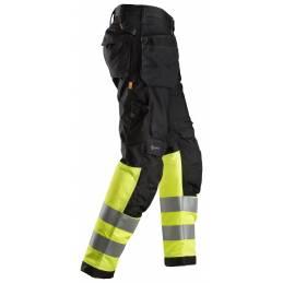 Snickers 6233 AllroundWork Odblaskowe spodnie robocze+ z workami kieszeniowymi, EN 20471/1