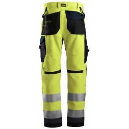 Snickers 6331 AllroundWork Odblaskowe spodnie robocze +, EN 20471/2