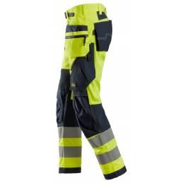 Snickers 6932 FlexiWork Spodnie Odblaskowe + z workami kieszeniowymi, EN 20471/2
