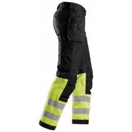 Snickers 3235 Spodnie odblaskowe Cotton z workami kieszeniowymi, EN 20471/1